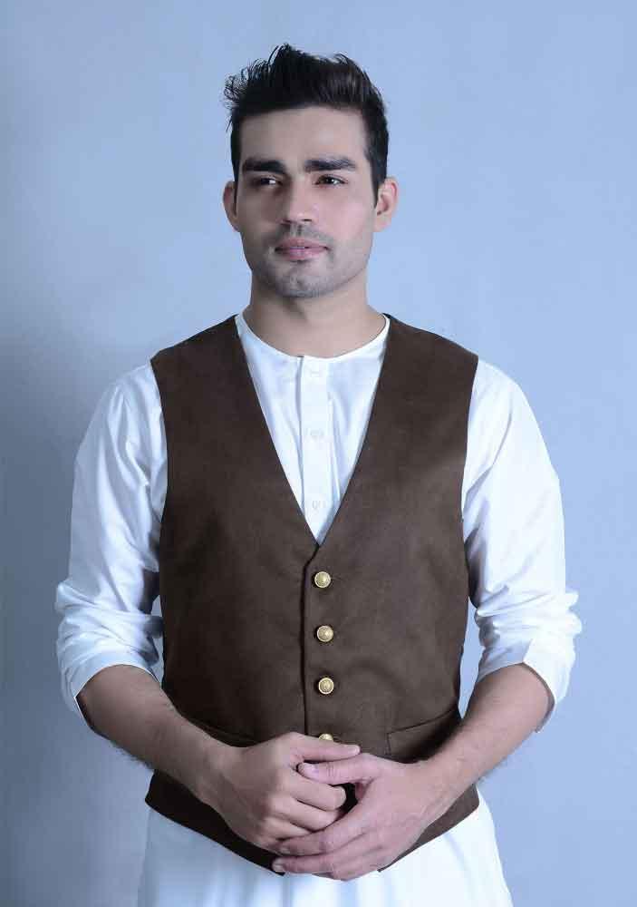 new white kurta with brown waistcoat latest amir adnan men kurta designs for ramadan 2017