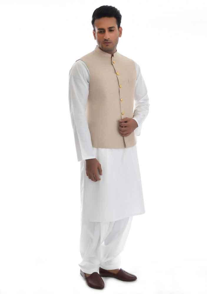 plain white shalwar kameez with waistcoat latest amir adnan men kurta designs for ramadan 2017