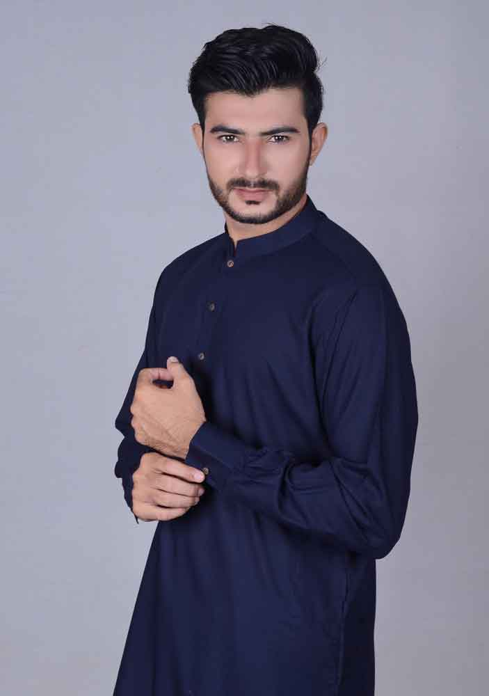 best navy blue simple kurta designs latest amir adnan men kurta designs for ramadan 2017