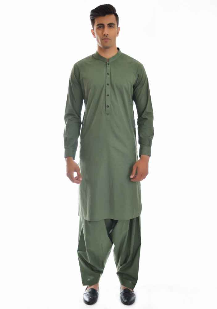 Plain green kurta shalwar latest amir adnan men kurta designs for ramadan 2017