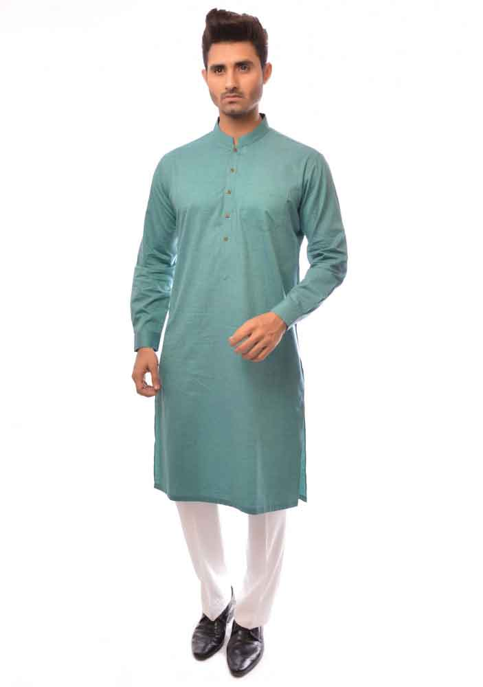 green kurta with white pajama latest amir adnan men kurta designs for ramadan 2017