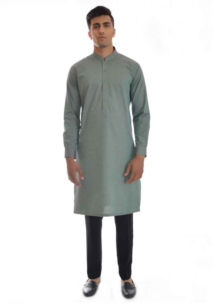 gray kurta with black pajama latest amir adnan men kurta designs for ramadan 2017