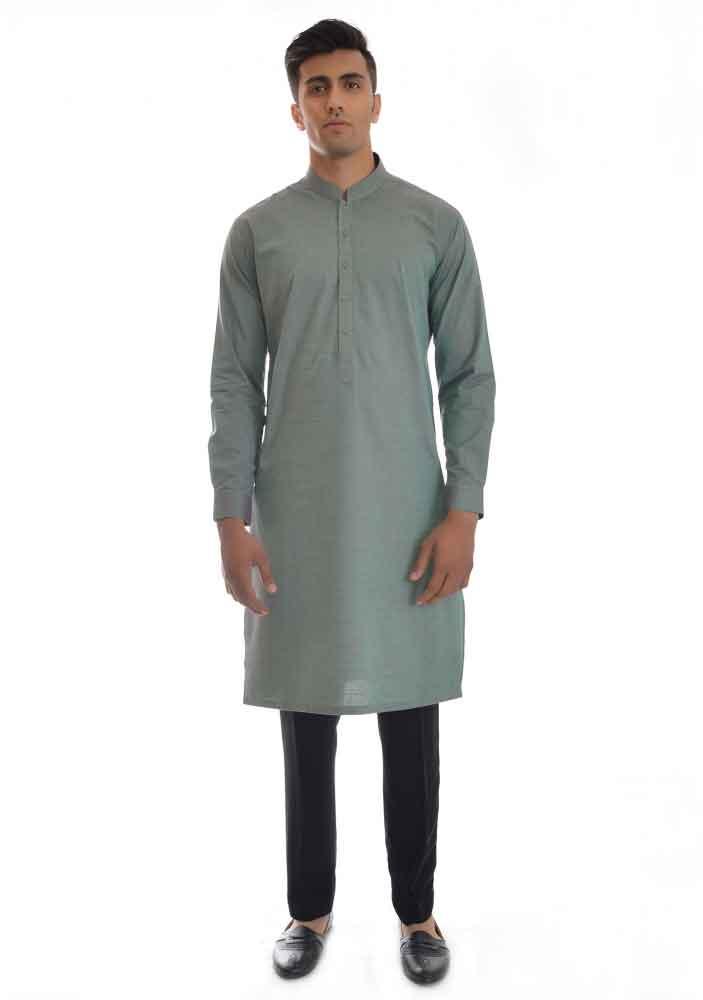gray kurta with black pajama latest amir adnan men kurta designs for ramadan 2017