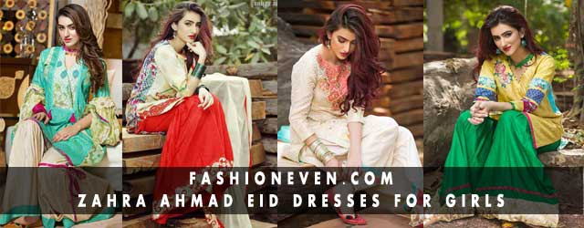 New designs of shirts and gharara by Zahra Ahmad Eid dresses for girls in Pakistan