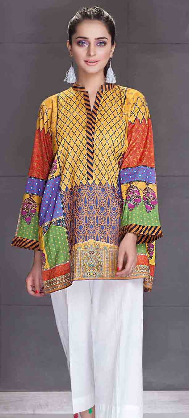 So kamal short shirt new eid dress designs for girls in Pakistan 2017