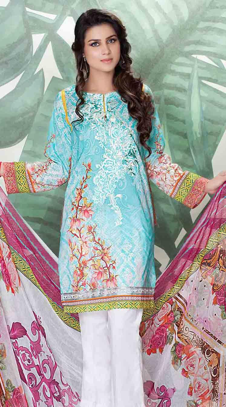 691f2f3a52 So kamal sky blue kameez shalwar new eid dress designs for girls in Pakistan  2017