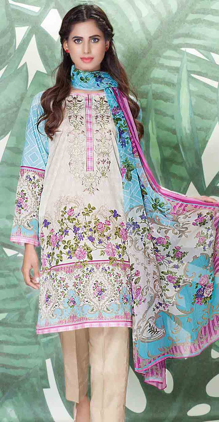 So Kamal light blue kameez shalwar new eid dress designs for girls in Pakistan 2017