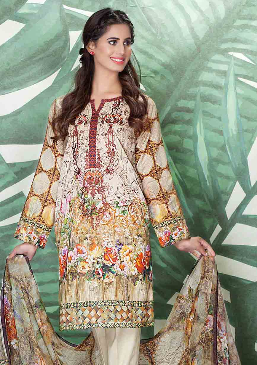 So kamal off white kameez shalwar new eid dress designs for girls in Pakistan 2017