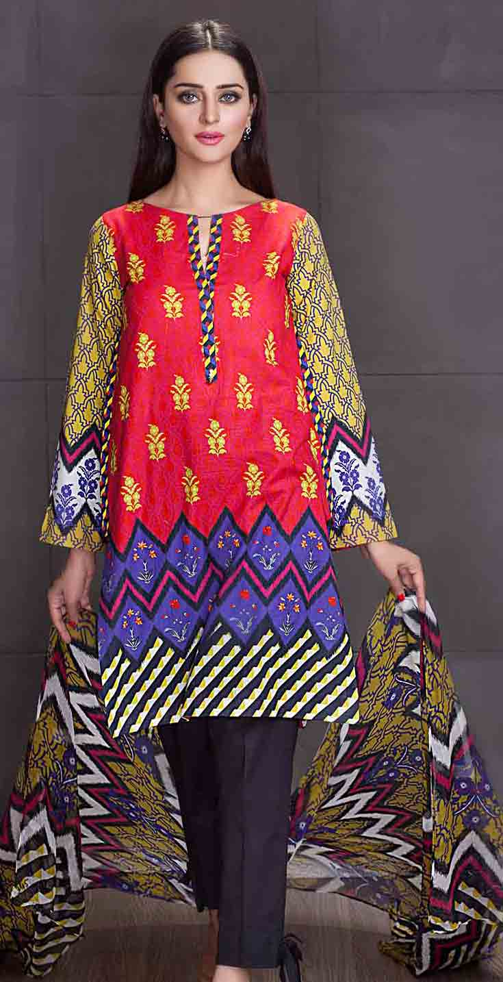 So kamal multicolor kameez shalwar new eid dress designs for girls in Pakistan 2017