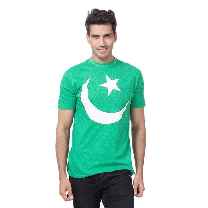 Chand sitara green and white shirt for Pakistan independence day dresses for boys 2017