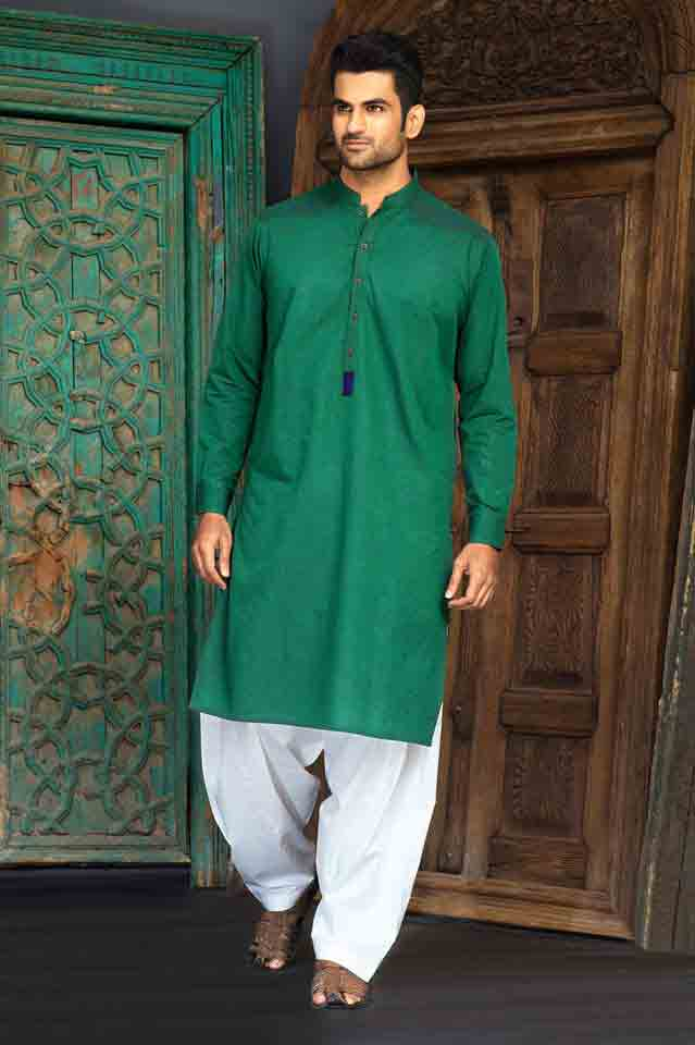 Green kameez with white shalwar for Pakistan independence day dresses for boys 2017