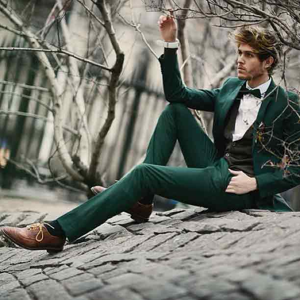 Dark green pant coat with bow and white shirt for Pakistan independence day dresses for boys 2018