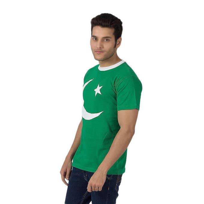 Green shirt with moon and star for Pakistan independence day dresses for boys 2018