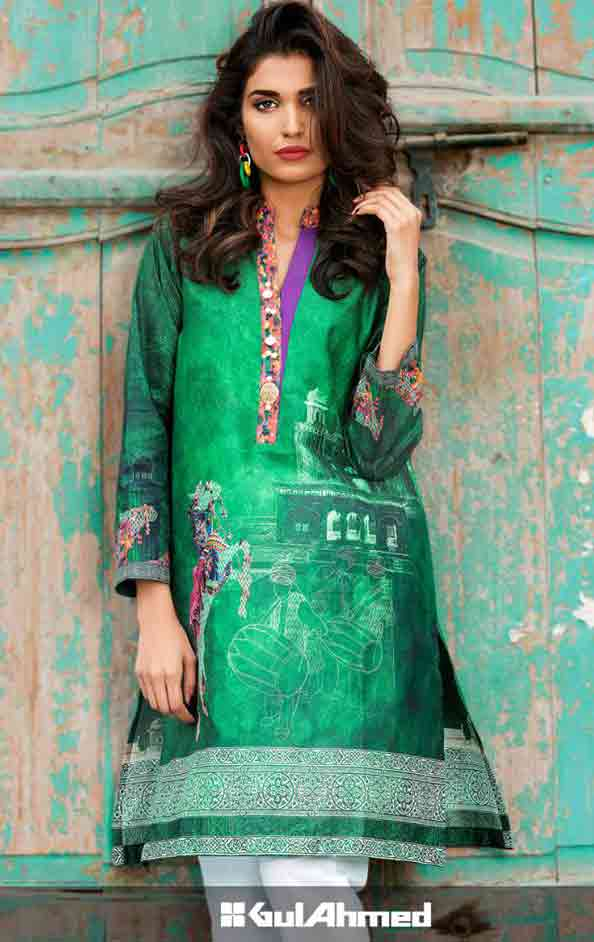 Green shirt for Pakistan independence day 14th August dresses for girls 2017