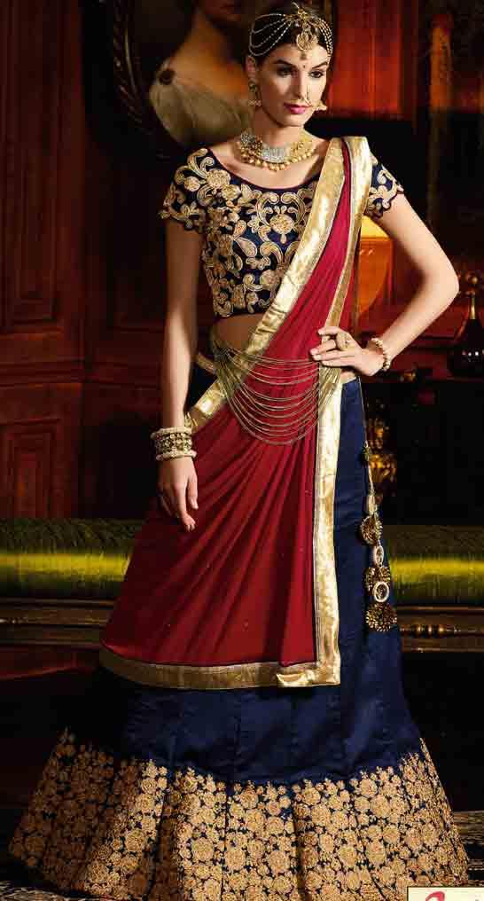 Indian Lehenga Choli Designs For Bridals 2017 | FashionEven