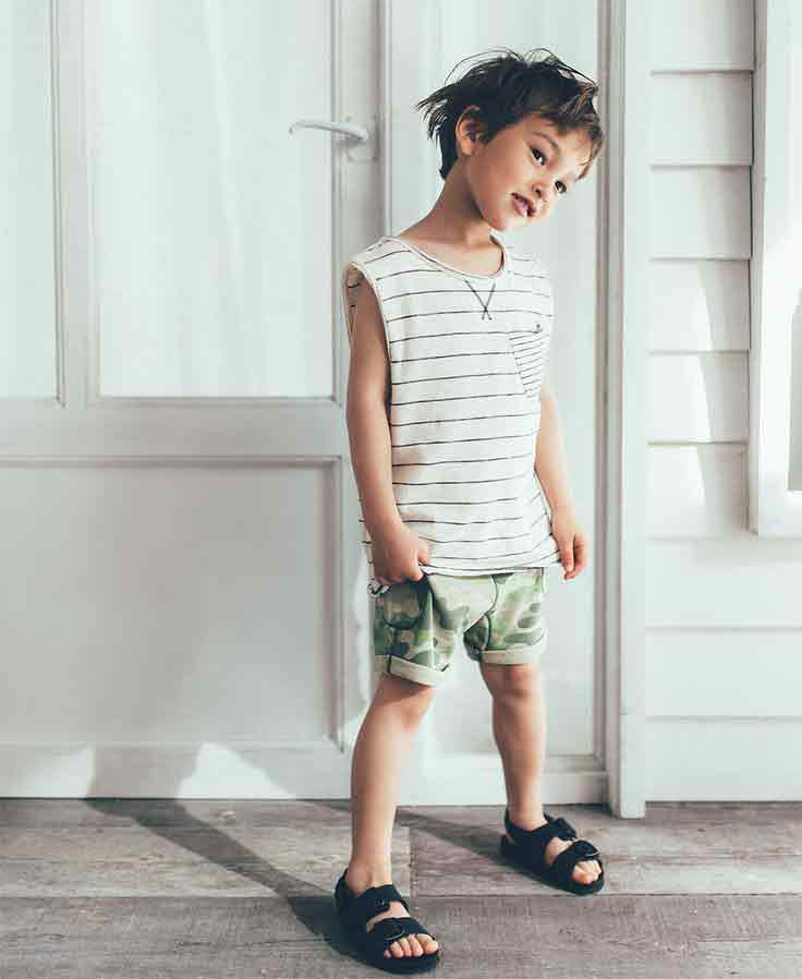 White shirt with green shorts for 14th august dresses for baby boys in Pakistan 2017