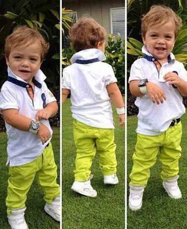 white shirt with green pants for 14th august dresses for baby boys in Pakistan 2017