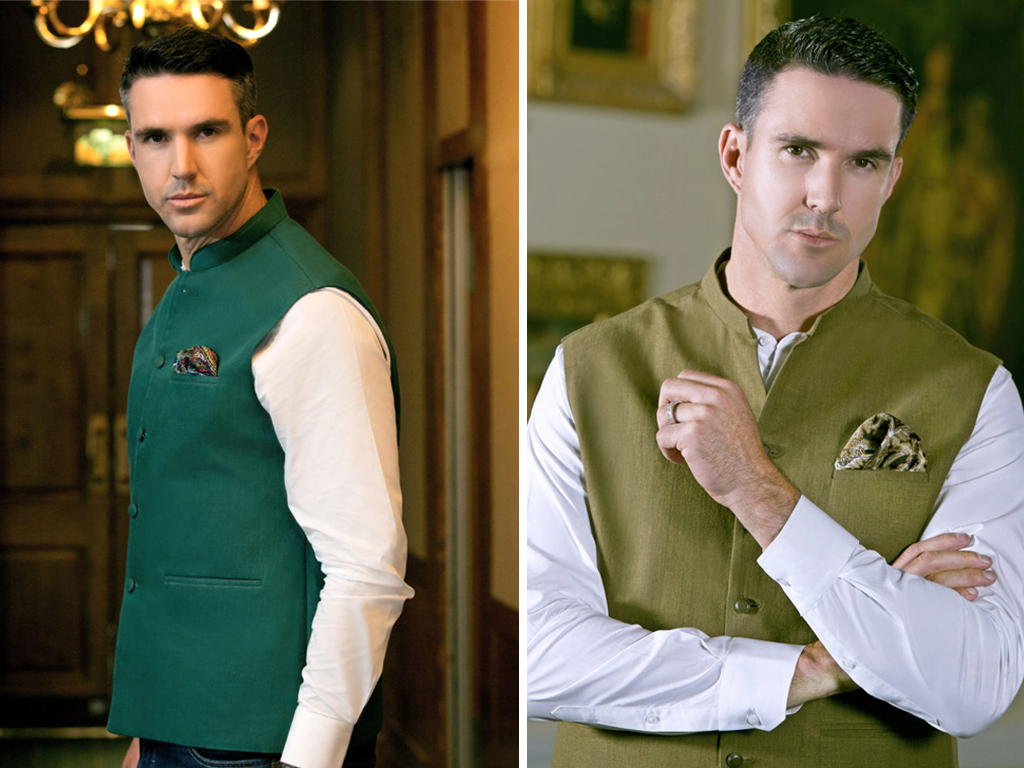 Green and white 14 august waistcoat for boys in Pakistan 2017
