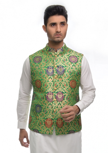 14 august waistcoat for boys in Pakistan 2017 green and white waistcoat shalwar kameez