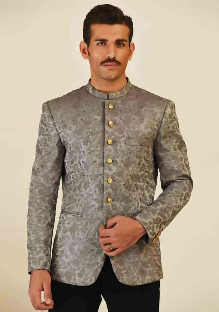 Formal grey waistcoat designs 2017 with pant for boys in Pakistan