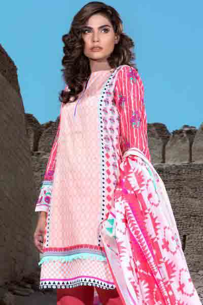 Pint shirt with dupatta dresses for Eid ul Azha 2017 by Gul Ahmed