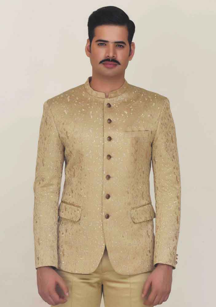 Golden waistcoat designs 2017 with pant for boys in Pakistan