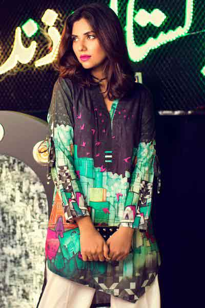 Green and black shirt for 14 august dresses 2018 for girls and kids little girls