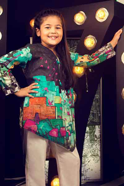 Green and black shirt for 14 august dresses 2017 for girls and kids little girls