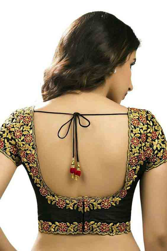Back saree blouse style for Indian saree blouse designs 2017