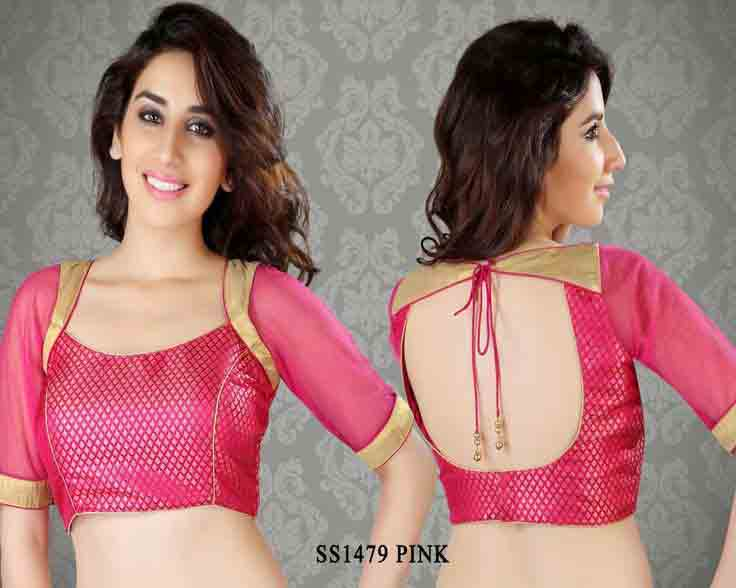 Latest front and back blouse styles for Indian saree blouse designs 2017