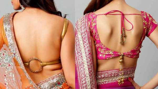 Back neck saree blouse styles for Indian saree blouse designs 2017