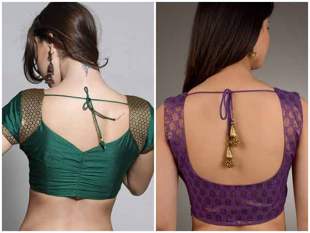 Back blouse styles for Indian saree blouse designs 2017