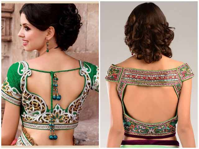 New back style of blouse for Indian saree blouse designs 2017