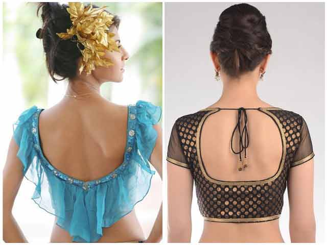 Back blouse style for Indian saree blouse designs 2017