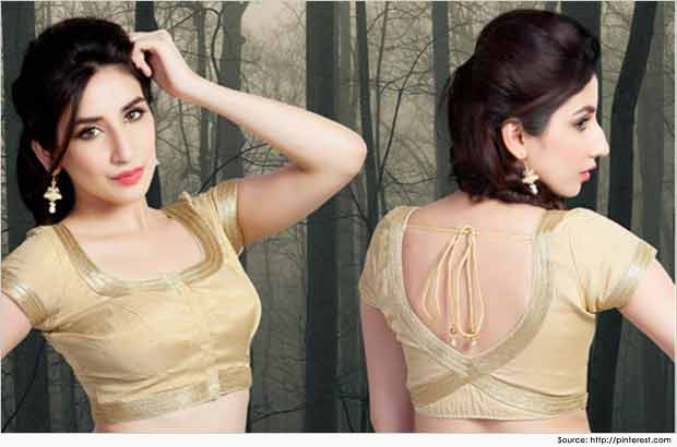 Front and back neck style for Indian saree blouse designs 2017