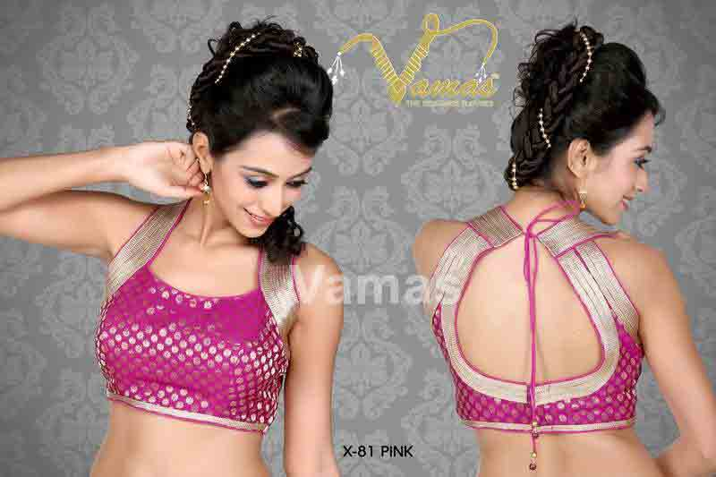 Front and black purple saree blouse for Indian saree blouse designs 2017
