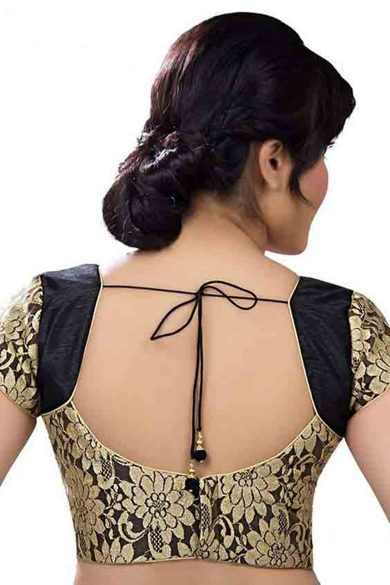 New saree blouse style for Indian saree blouse designs 2017