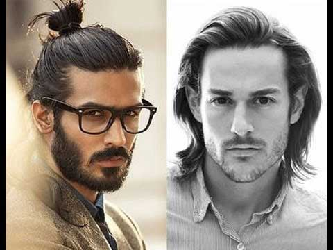 Latest hair bun and shoulder length best long haircuts and hairstyles for men in 2017