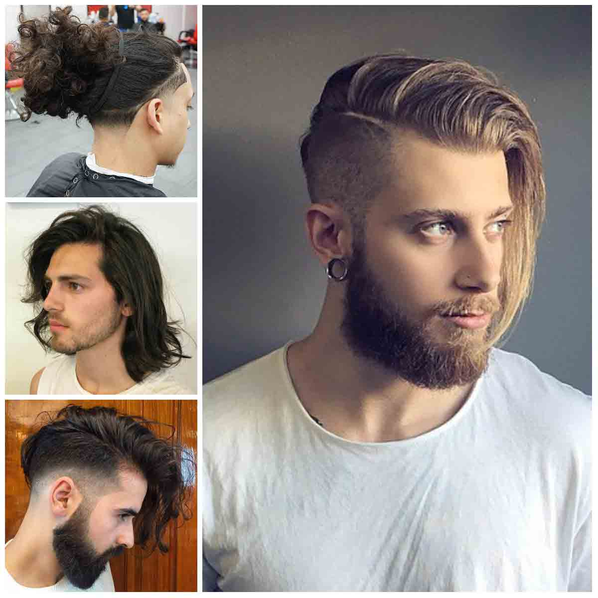 Long side part with undercut and messy hair bun best long haircuts and hairstyles for men in 2017