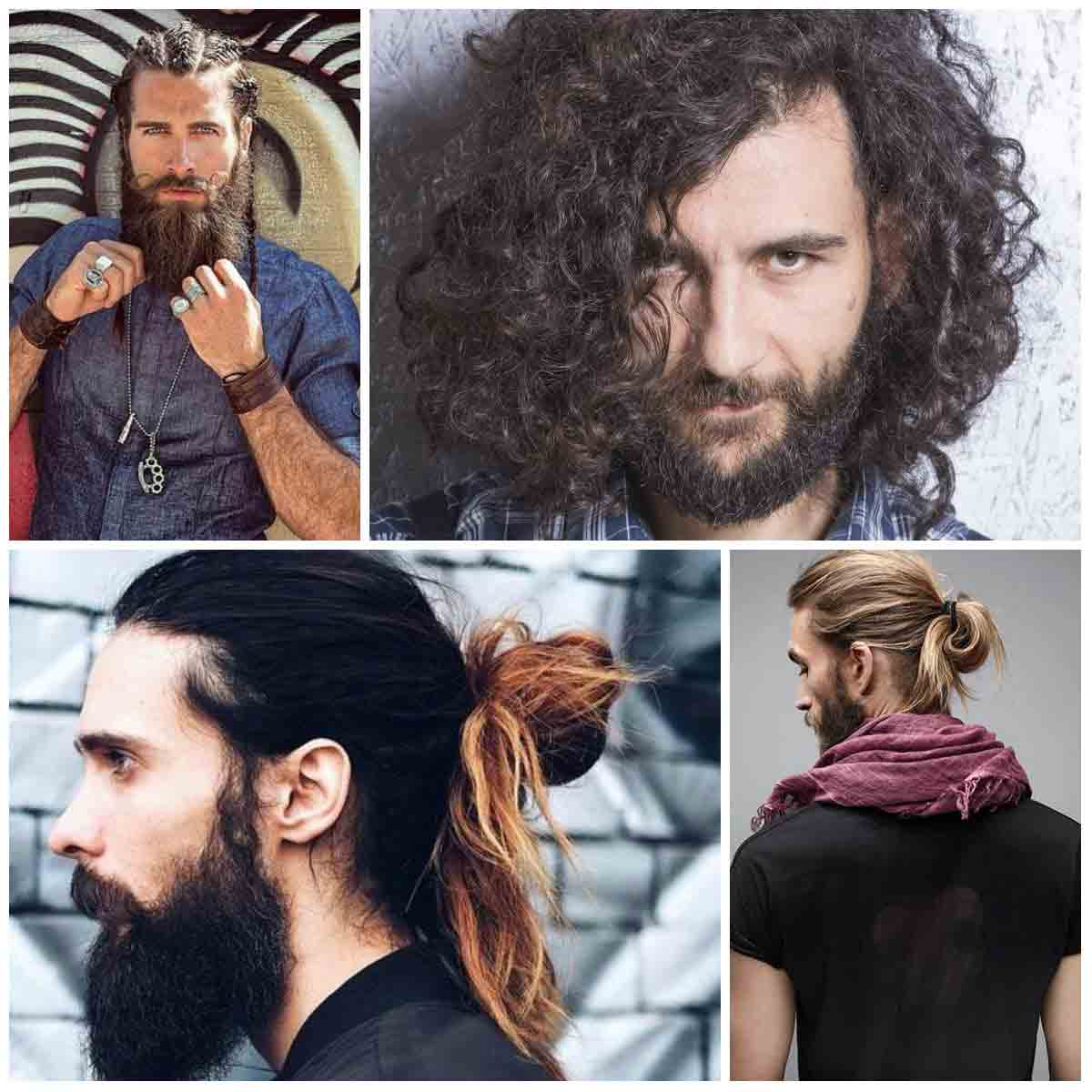 Curly ponytail and hair bun best long haircuts and hairstyles for men in 2017