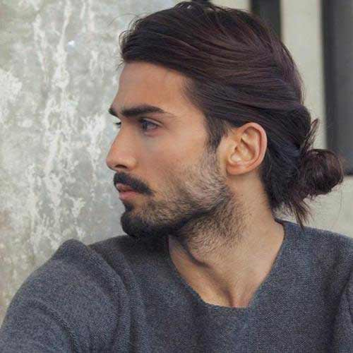 Twisted side bun best long haircuts and hairstyles for men in 2017