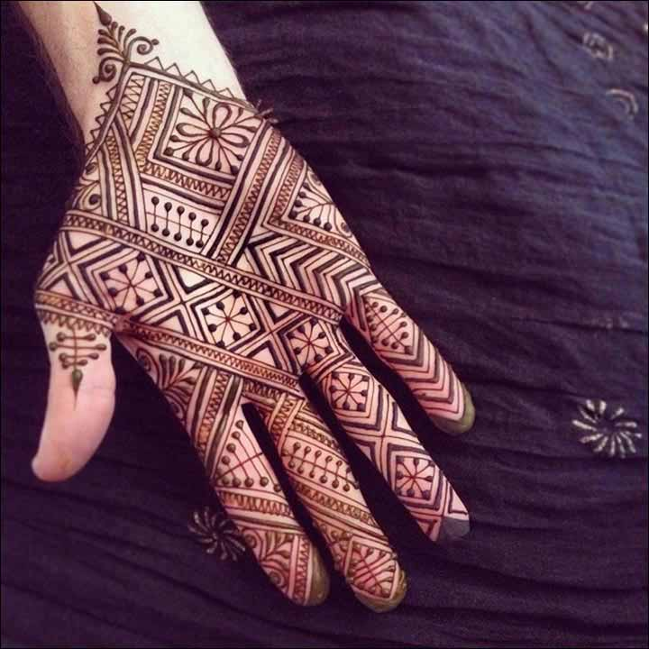 Latest full hand mehndi designs for boys hands 2017