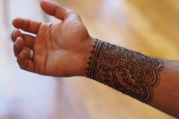 wrist bangle bracelet mehndi designs for boys hands 2017