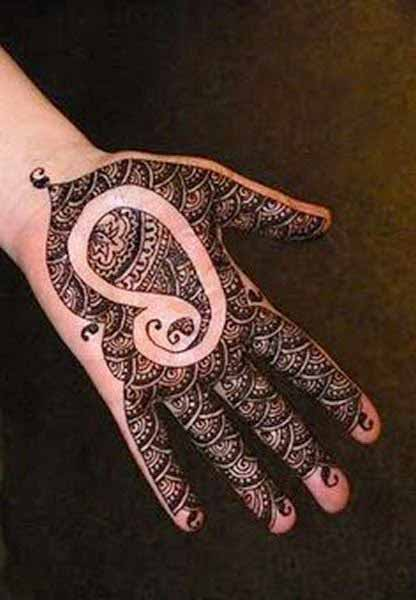 Latest mehndi designs for boys hands 2017