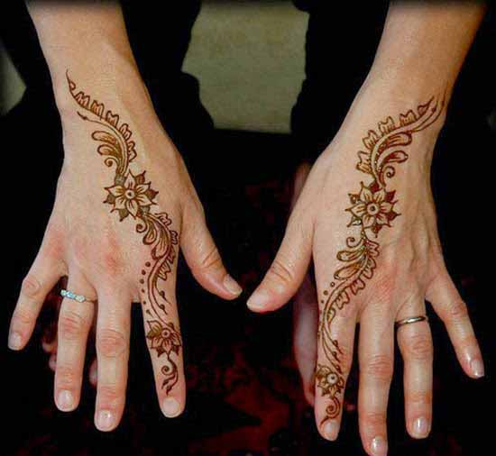 Simple back hand mehndi designs for boys hands 2017