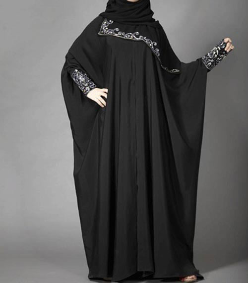 Lace style new stylish black abaya designs 2017 for girls