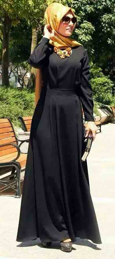 Arabic style new stylish black abaya designs 2017 for girls