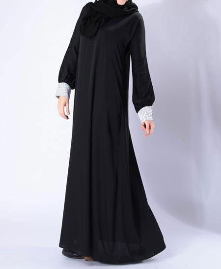 Best and new stylish black abaya designs 2017 for girls
