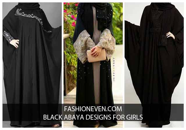 New Stylish Black Abaya Designs 2018 For Girls