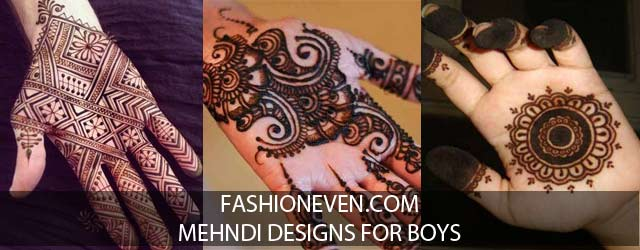 Simple mehndi designs for boys hands 2017